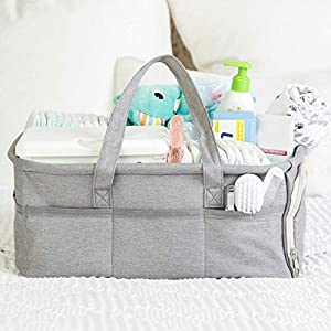 Baby Diaper Caddy Organizer, Large Grey