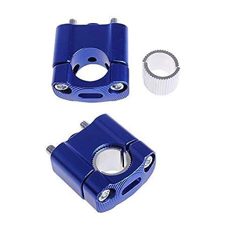 MASO Motorcycle Handlebar Risers 22mm//28mm 7//8 11//8 Universal Motorbike Handlebar Bar Risers Blue
