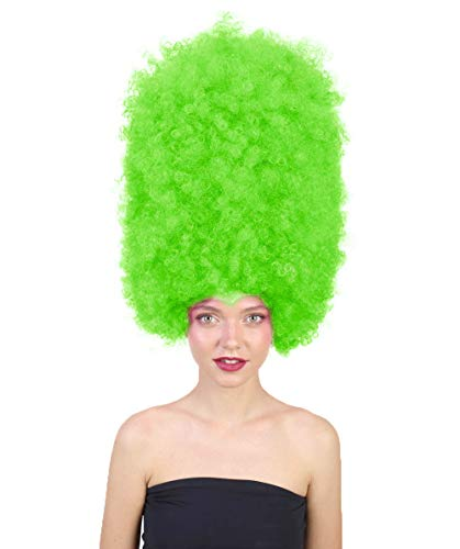 Halloween Party Online Super Size Jumbo Afro Wig Collection, Adult & Kids (Adult, Lime)]()