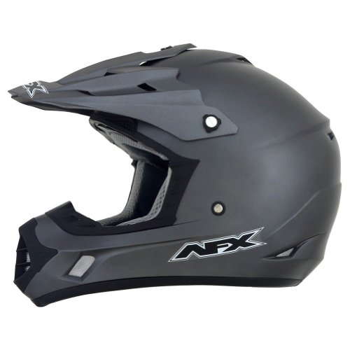 AFX FX-17 Solid Helmet , Distinct Name: Frost Gray, Gender: Mens/Unisex, Primary Color: Gray, Helmet Type: Offroad Helmets, Helmet Category: Offroad, Size: 3XL (Helmet Colour)