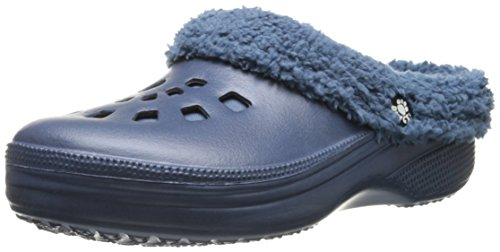 DAWGS Frauen Fleece Dawgs Indoor Outdoor flauschige Clogs Hausschuhe Marine / Marine