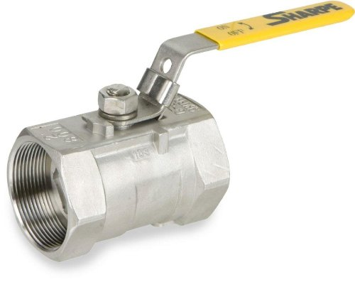 Sharpe Valves 58876 Series Stainless Steel 316 Ball Valve, Unibody, Inline, Lever Handle, 1-1/4