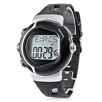 Unisex de pulso contador de calorías digital Automatic reloj diseño rubber (varios coloures) negro: Amazon.es: Deportes y aire libre