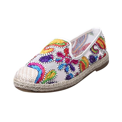Pointed hollow out breathable flat sandals women white - 7