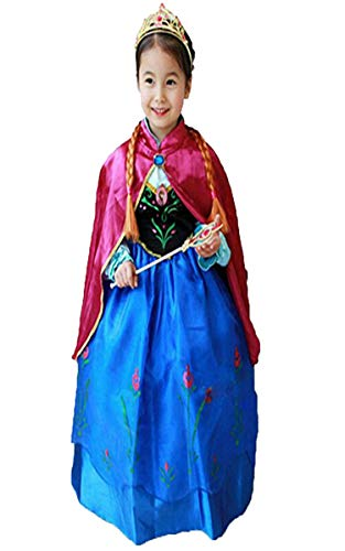 Princess Anna Frozen Princess Dress (Sizes 2t to 6t) Satin/Cotton Blend
