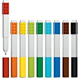 LEGO Stationery - Colored Marker 9 Pack with Building Bricks