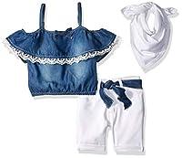 Limited Too Little Girls' Fashion Top and Short Set, 2785 Medium Blue Denim, 4