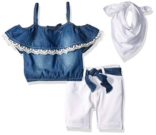 - Limited Too Girls' Big Fashion Top and Short Set, Blue Pleasant Sleeves White 12