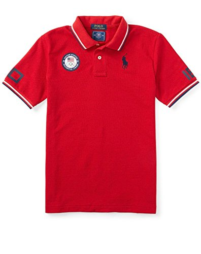 Ralph Lauren Boys' Olympic Graphic Polo Shirt Ralph Lauren Red (M - Polo Olympics