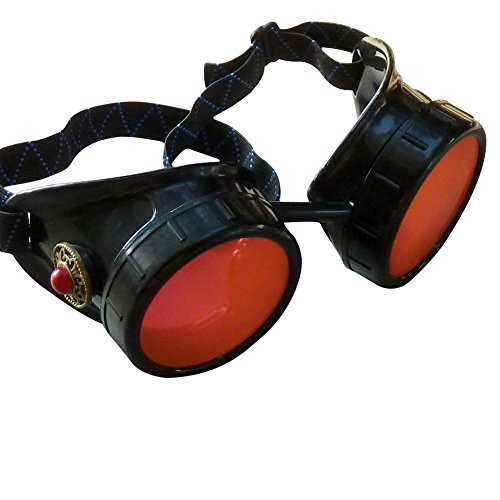 Steampunk Victorian Goggles welding Glasses diesel punk--limited - Lens Goggles Red