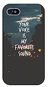Diy For SamSung Galaxy S5 Case Cover Your voice is my favorite sound. Love - black plastic Inspirational and motivational