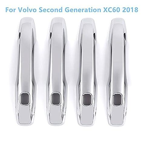 YUZHONGTIAN Tirador de puerta lateral de plástico ABS cromado decorativo, 4 piezas para accesorios de coche VVC6: Amazon.es: Coche y moto