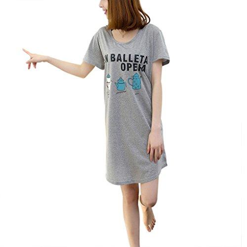 Womens Cotton Sleepwear Nightshirt Letters