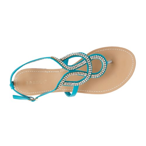 Bloom Rhinestone Sandals Womens Bamboo detailed Rhinestone Bloom detailed Womens Bamboo Seafoam aWwfc