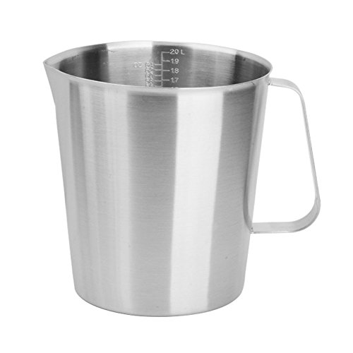 2000ml Stainless Steel Coffee Milk Pitcher Frothing Cup - SILVER - 3