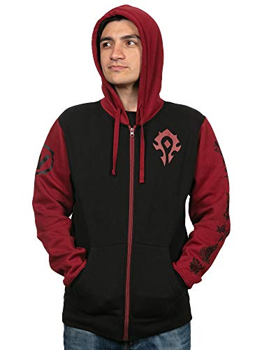JINX World of Warcraft Horde Pride Men's Gamer Zip-Up Hoodie