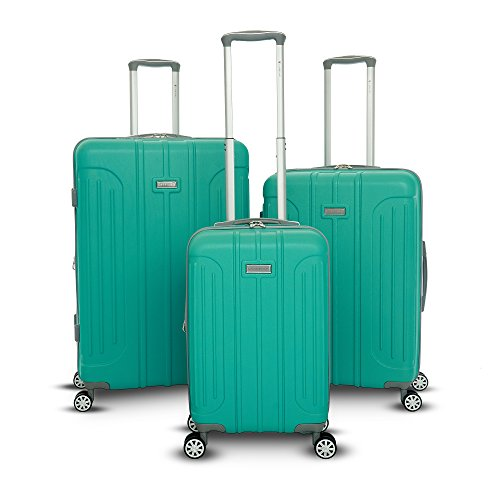 Gabbiano Viva Collection 3 Piece Hardside Expandable Spinner Set (Teal)
