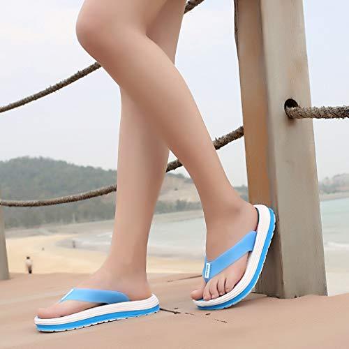 À Décontractées Clip Été Et mounter Chaussures Plat De Printemps Souples Tongs 2019 Chaussons En Bleu Femme Plage 7q7gPpv