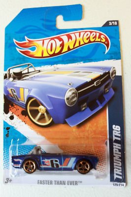 2010 Hot Wheels 131/240 - Faster Than Ever 3/10 - Triumph TR6 (Blue)