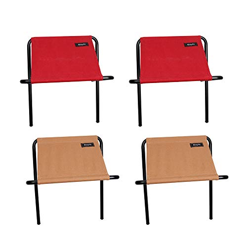 VOYOAO 4PC Portable Multifunction Canvas Folding Chair Outdoor Furniture