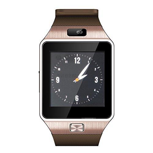 ZTHY Newest Bluetooth Smart Watch DZ09 WristWatch GSM SIM Card anti-lost for Android phone-bronze
