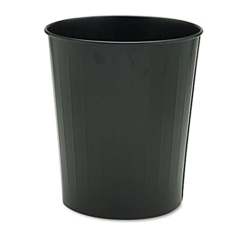 Safco Products 9604BL Round Wastebasket, 23 1/2-Quart, Black