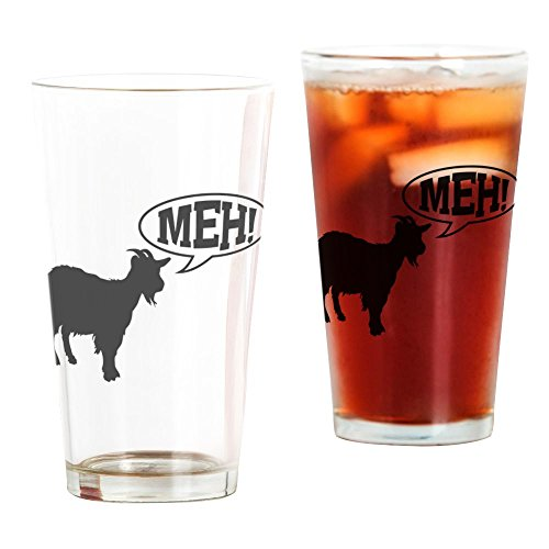 CafePress Goat Meh Pint Glass, 16 oz. Drinking ()