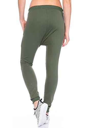 Fashion Flash - Pantalón deportivo - para mujer verde oliva