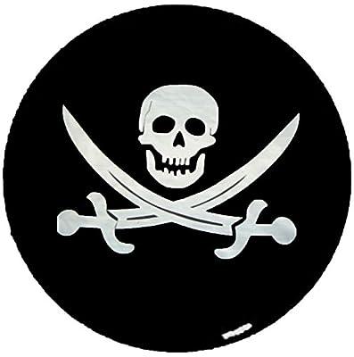 Spare Tire Cover LEATHER GRAIN Pirate Skull