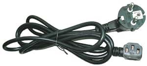 Gembird PC-186A-VDE - Cable de alimentación С15, 1.8m, 10A, color negro