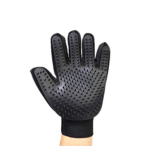 Pet Hair Removal Beauty Gloves New Pet Gloves 259 Thread Pure Black Upgraded Models Open Back Middle Areas Five-Finger Hair Grooming Gloves