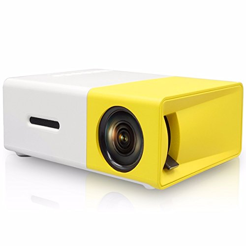 Mini Projector,ELEGIANT Portable 1080P LED Projector Outdoor Home Cinema Theater with PC Laptop USB/SD/AV/HDMI Input Pocket Projector for Video TV Movie Party Game Home Entertainment Pico Projector