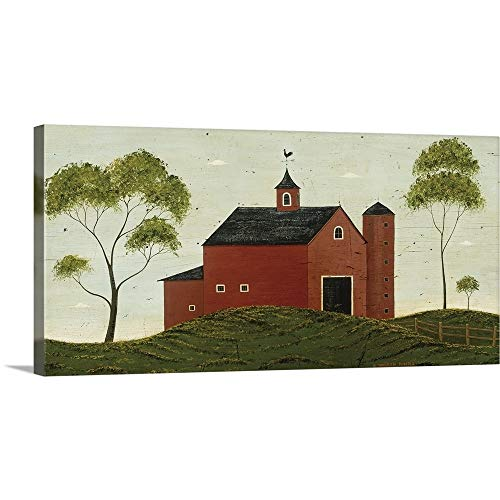 GREATBIGCANVAS Gallery-Wrapped Canvas Entitled Red Barn by Warren Kimble 36