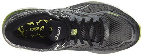 Asics Gel Mens Cumulus 19 Chaussures De Course Lite-show Gris (sécurité Noir De Carbone 9790 Jaune)