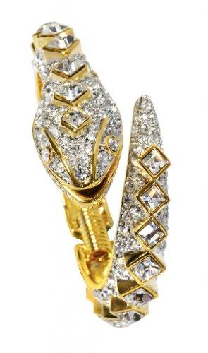 Kenneth Jay Lane Animal Bracelet Snake Faux Stones Costume Fashion (Jackie O Costume Jewelry)