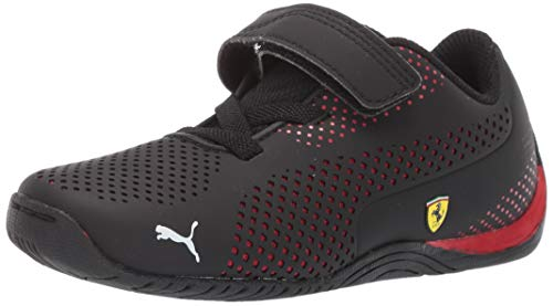 (PUMA Unisex Ferrari Drift Cat 5 Ultra Sneaker, Black-Rosso Corsa, 4.5 M US Big Kid)