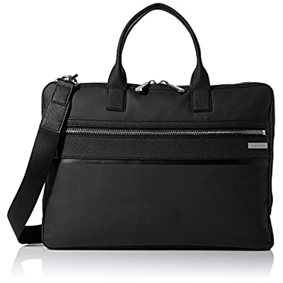 60%OFF Calvin Klein Men's Nylon with Saffiano Trim Slim Attache