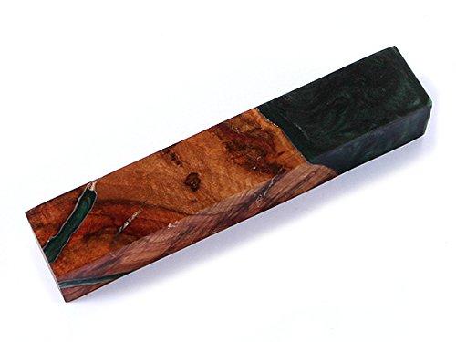 KnifeKits: Pen Turning Blanks - Hybridwood - Maple Burl/Emerald Resin