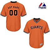 New V-Neck San Francisco Giants CUSTOM (Name/# on Back) or Blank Back MLB On Field Cool-base Pro Length Full Athletic Cut Uniform Jersey