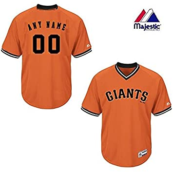 new style e8d41 7602f Majestic New V-Neck San Francisco Giants CUSTOM (Name/# on Back) or Blank  Back MLB On Field Cool-base Pro Length Full Athletic Cut Uniform Jersey