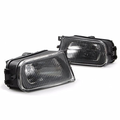YPINGLI Pair Black Fog Lights Bumper Lamp Cover Housing For E39 5-Series 97-00/ Z3 97-01 LED car light