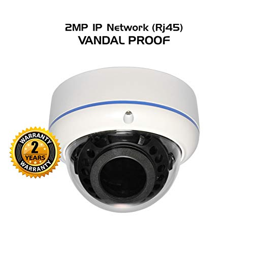 Ares Vision IP Network High Definition CCTV Camera w/IR Night Vision (2MP, Dome VP)