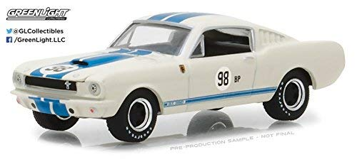 (1965 Shelby GT350 White with Blue Stripes Terlingua Team Car #98BP Hobby Exclusive 1/64 Diecast Model Car by Greenlight 29918)