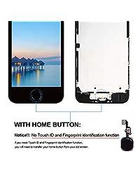 MasReparación Compatible Pantalla de repuesto para iPhone 5S Pantalla de 4,0 pulgadas pantalla LCD de montaje completo, sensor de proximidad, altavoz auditivo, cámara frontal, placa de metal