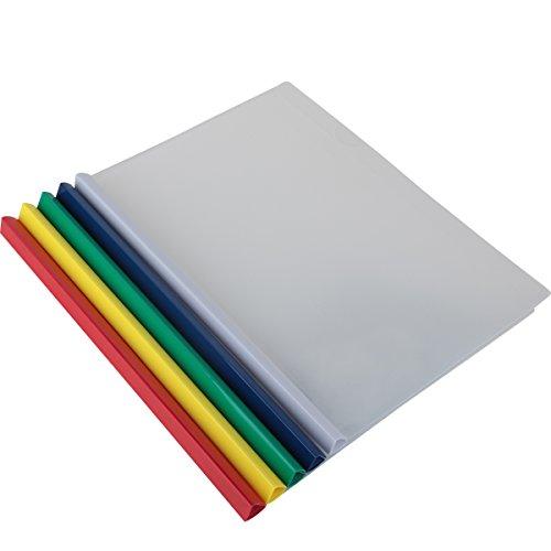 bilipala 10 counting plastic clear sliding bar file folder report