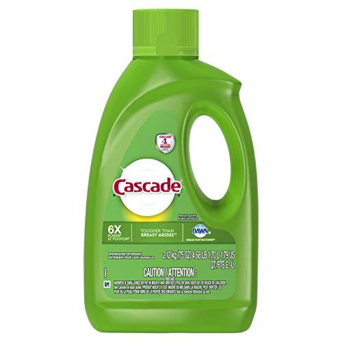 Cascade Gel Dishwasher Detergent Fresh Scent, 75 Oz