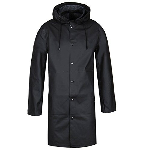 Stutterheim Goteborg Black Raincoat