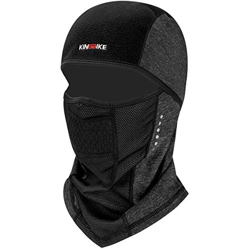- KINGBIKE Balaclava Windproof Ski Face Mask Winter Motorcycle Neck Warmer Tactical Balaclava Hood Fleece for Women Men Youth Snowboard Cycling Hat Outdoors Helmet Liner (Style 3-Snug Fit)