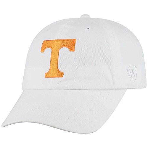Top of the World NCAA Tennessee Volunteers Men's Adjustable Hat Relaxed Fit White Icon, -