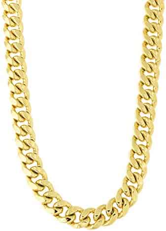Men's 14k Yellow Gold Classic Miami Cuban Link Chain Necklace or Bracelet